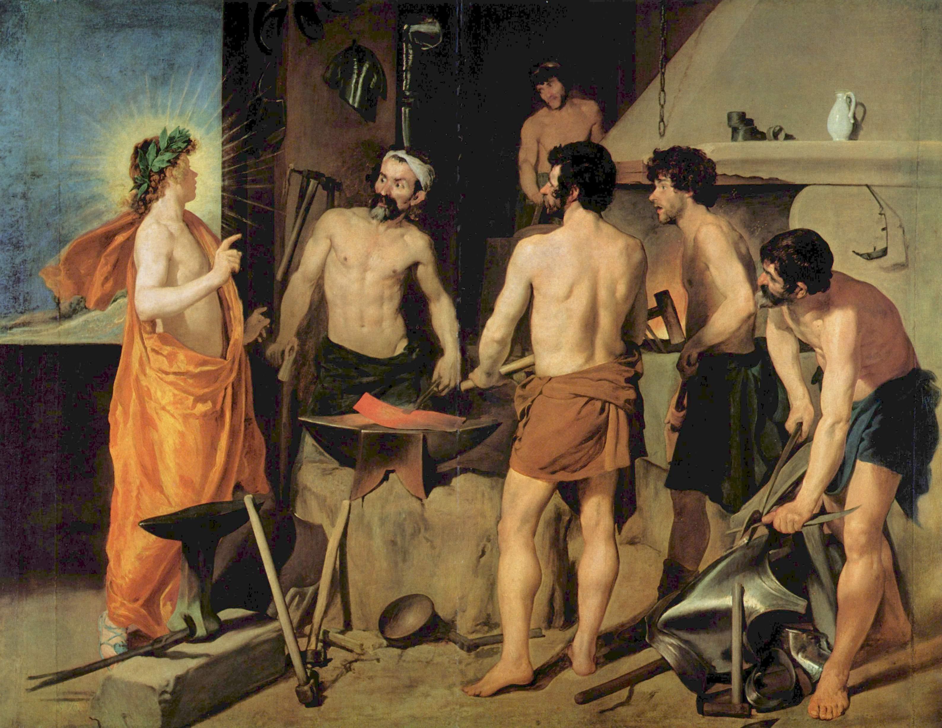 Diego Velázquez - La fragua de Vulcano   Artelista.com
