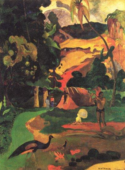 Landschaft mit Pfauen (Matamoe)