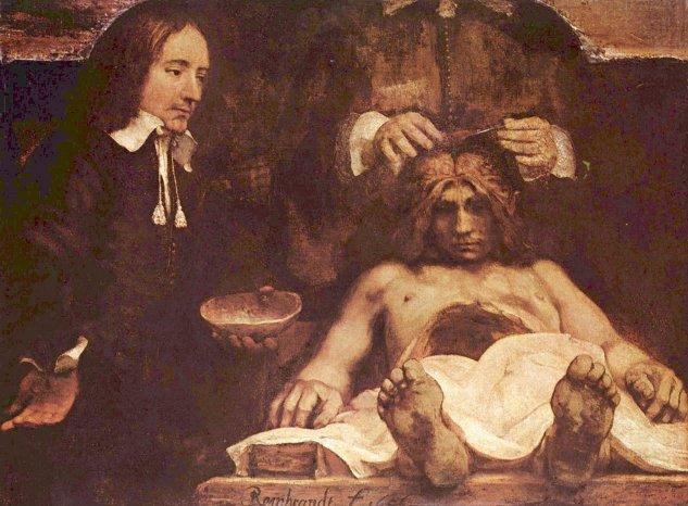 Rembrandt - Lección de anatomía del Dr. Deyman, fragmento ...
