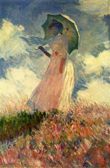 Mujer con sombrilla, estudio