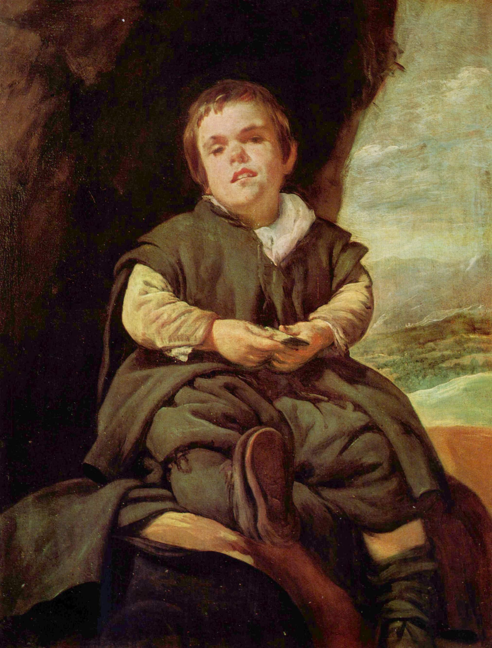 Diego Velázquez - Retrato del enano Francisco Lezcano, hijo de ...