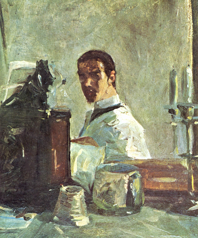 Henri de toulouse lautrec selbstportr t vor einem for Autoportrait miroir