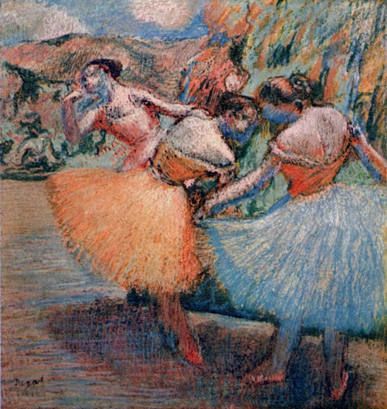 Edgar Degas Tres Bailarinas Artelista Com